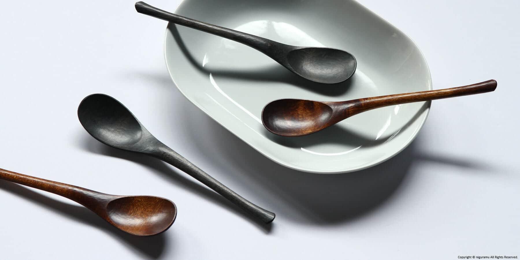 Wooden Japanese spoon / Urushi