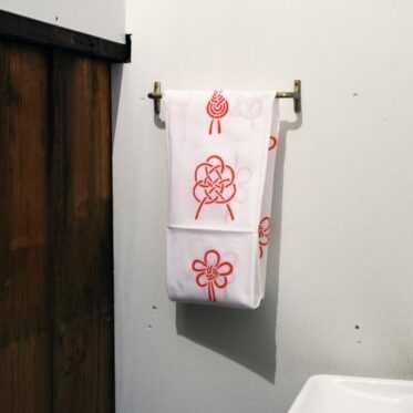 Japanese towel, HIMOMUSUBI / red