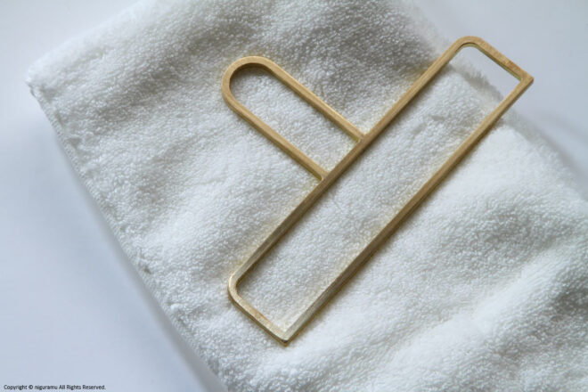 真鍮製タオルハンガー