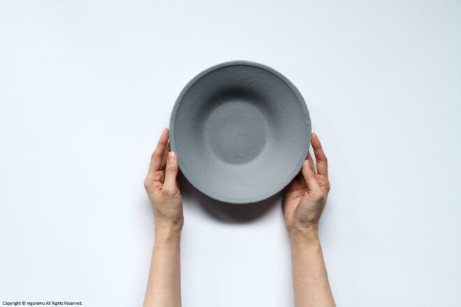 Compared the plate to hand and size.