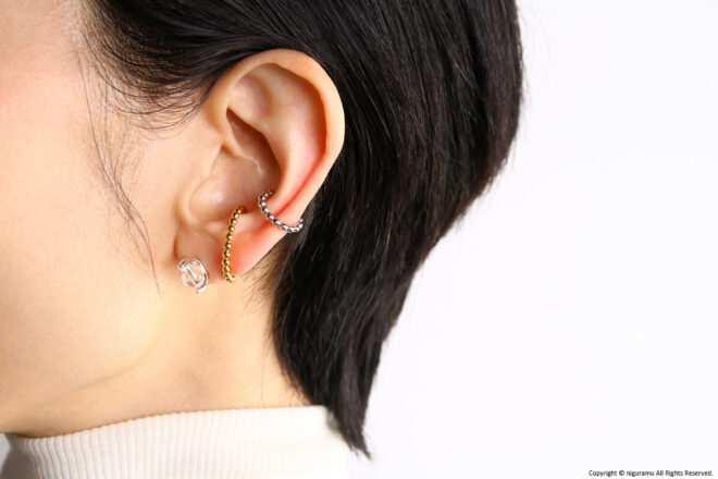 unik Pierced earrings and ear cuffs