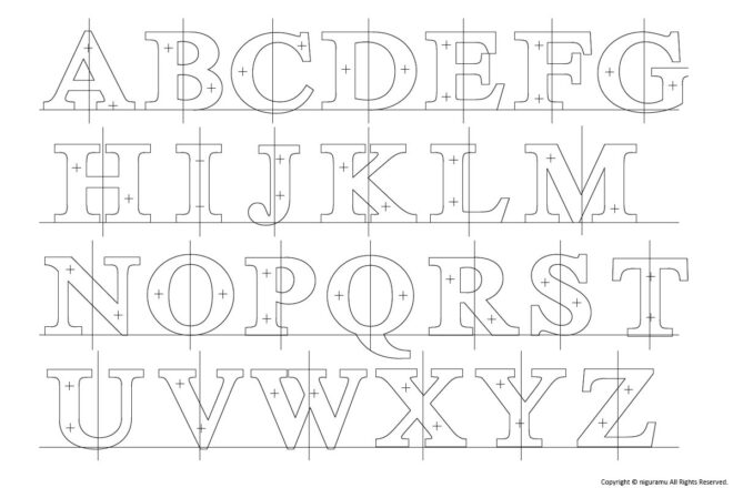 """Cast metal sign letters, serif """"One uppercase alphabet (Only one of A to Z.)"""""""