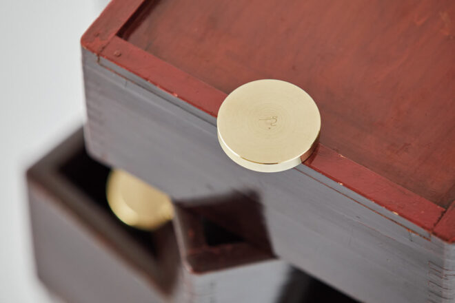 「Urushi Layered Boxes 001」真鍮パーツ