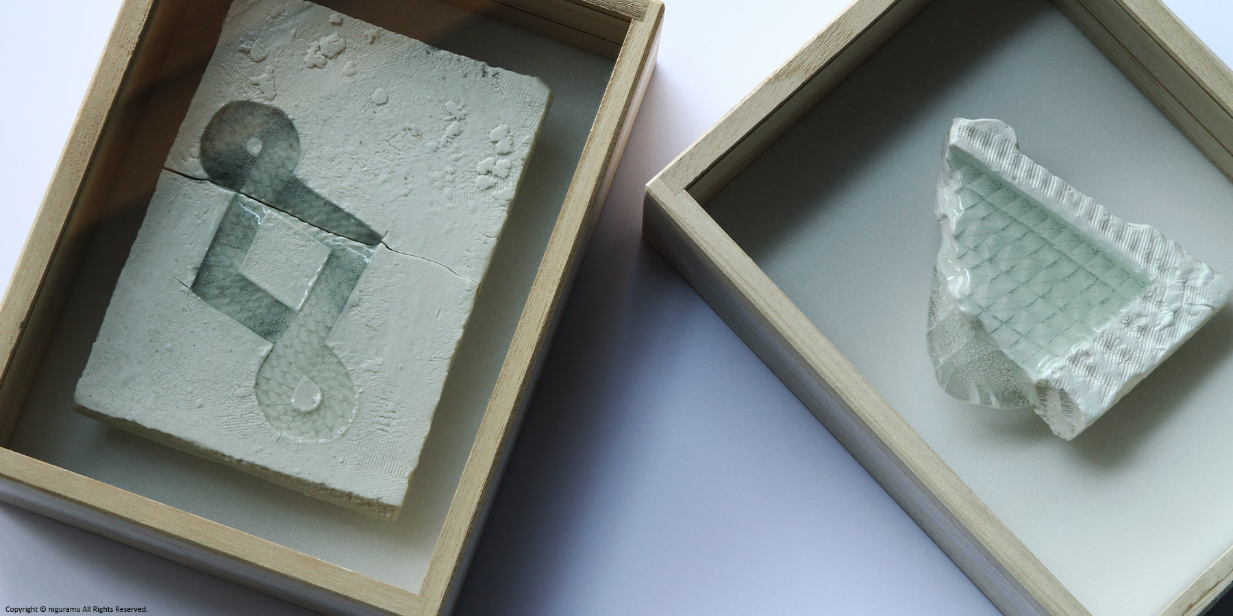 """UU ceramic jewelry and objects """"Relief tile"""""""