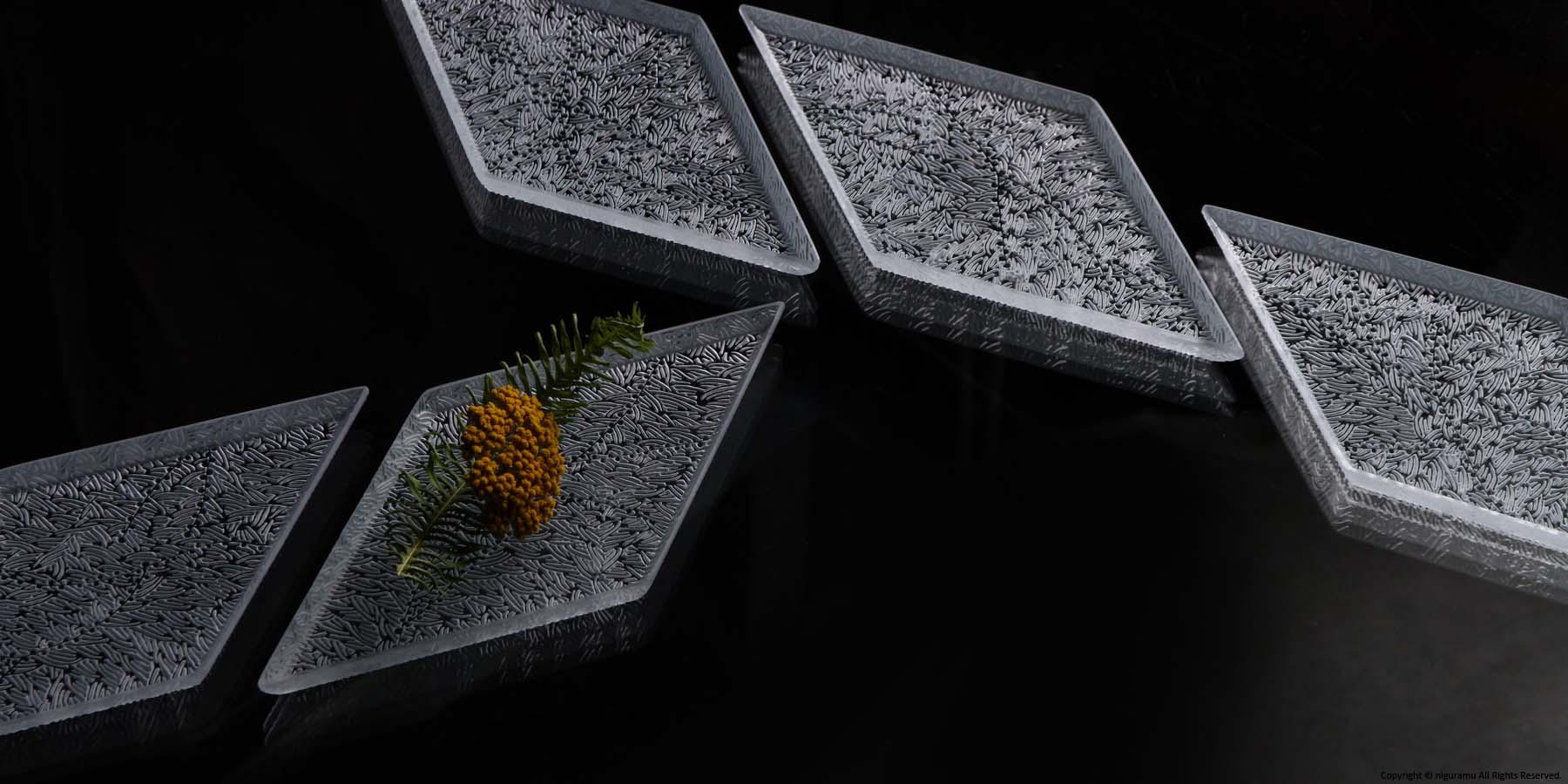菱形板皿 , mebuku
